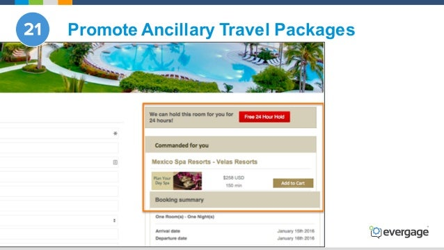 @Evergage Promote Ancillary Travel Packages