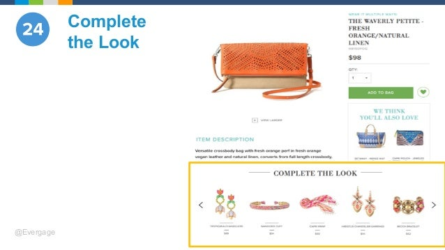 @Evergage Complete the Look