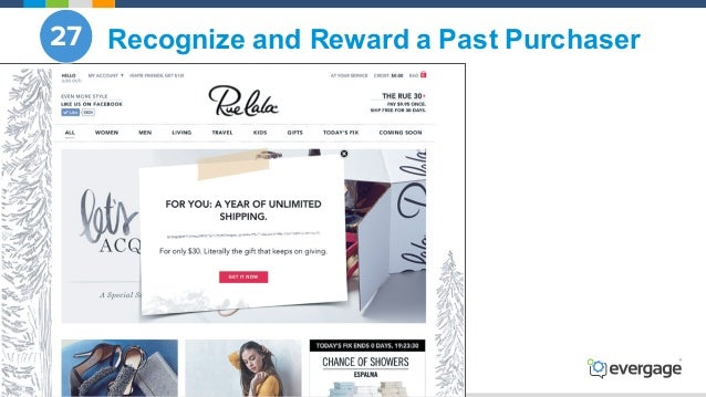 @Evergage Recognize and Reward a Past Purchaser