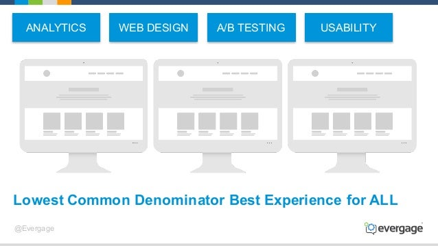 @Evergage Lowest Common Denominator Best Experience for ALL ANALYTICS A/B TESTINGWEB DESIGN USABILITY