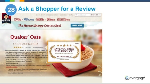 @Evergage Ask a Shopper for a Review