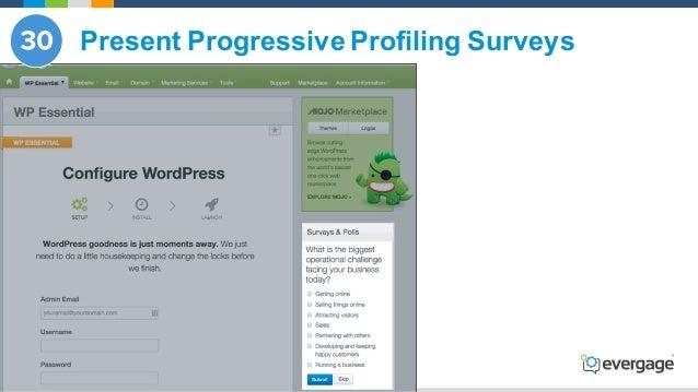 @Evergage Present Progressive Profiling Surveys