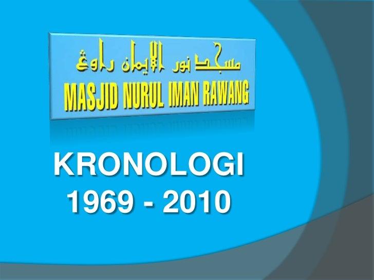 KRONOLOGI<br />1969 - 2010<br />
