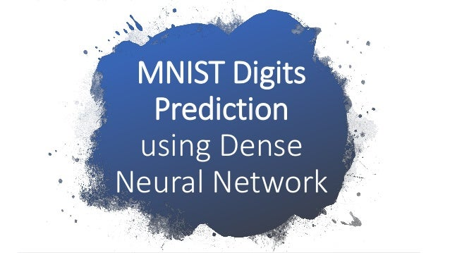 Dense neural network Keras for MNIST