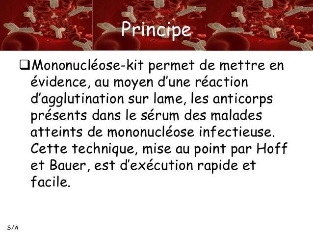 Sérologie de la mononucléose infectieuse Test de dépistage ...