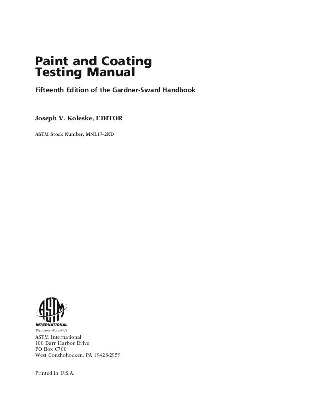 paint and coating testing manual 15th edition rh slideshare net paint and coating testing manual 15th edition download paint and coating testing manual 15th edition pdf