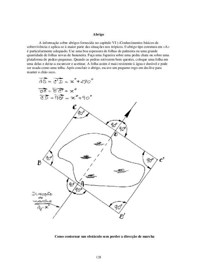 Abrigo         A informação sobre abrigos fornecida no capitulo VI («Conhecimentos básicos desobrevivência») aplica-se à m...
