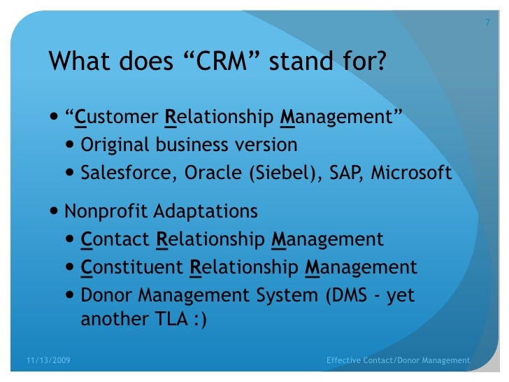 Nonprofit contact and donor relationship management (CRM)