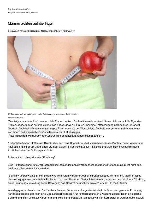 Typ: Unternehmensinformation  Kategorie: Medizin | Gesundheit | Wellness  Männer achten auf die Figur  Schlosspark Klinik ...