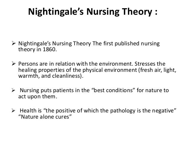 nightingales nursing theory