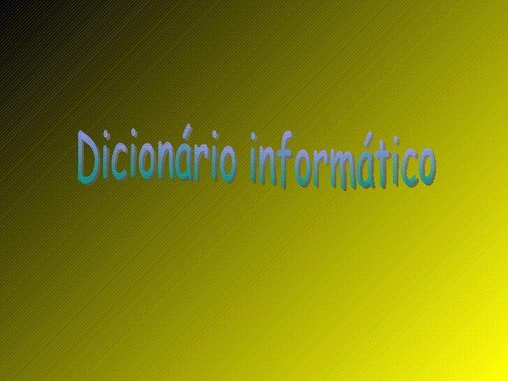 Dicionário informático