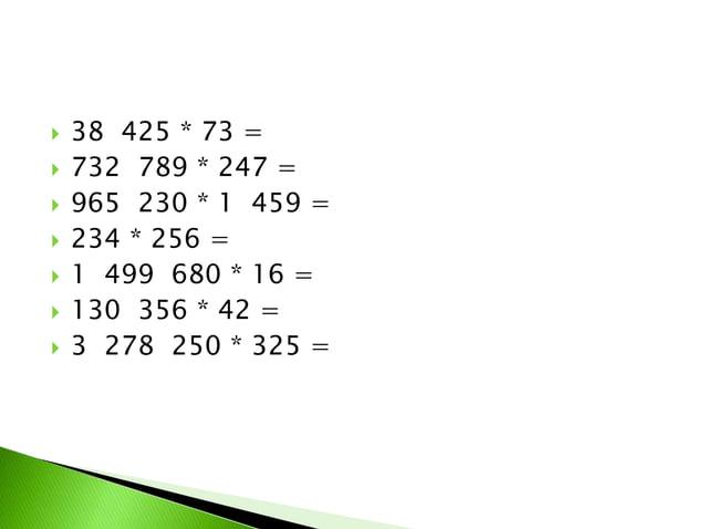 8 128 : 8 =  963 612 : 78 =  55 821 : 69 =  1 499 680 : 16 =  327 925 : 325 =  66 185 : 35 =  792 396 : 198 =  1 ...