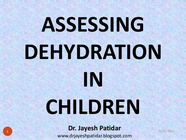 Assessing dehydration in children