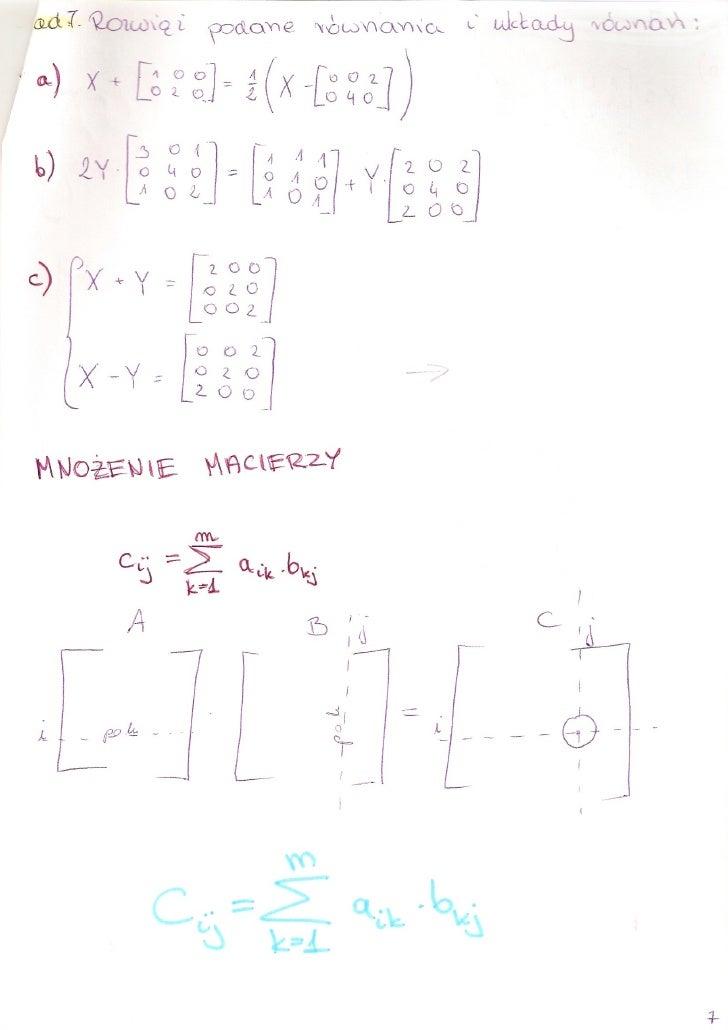 Algebra - mnożenie macierzy