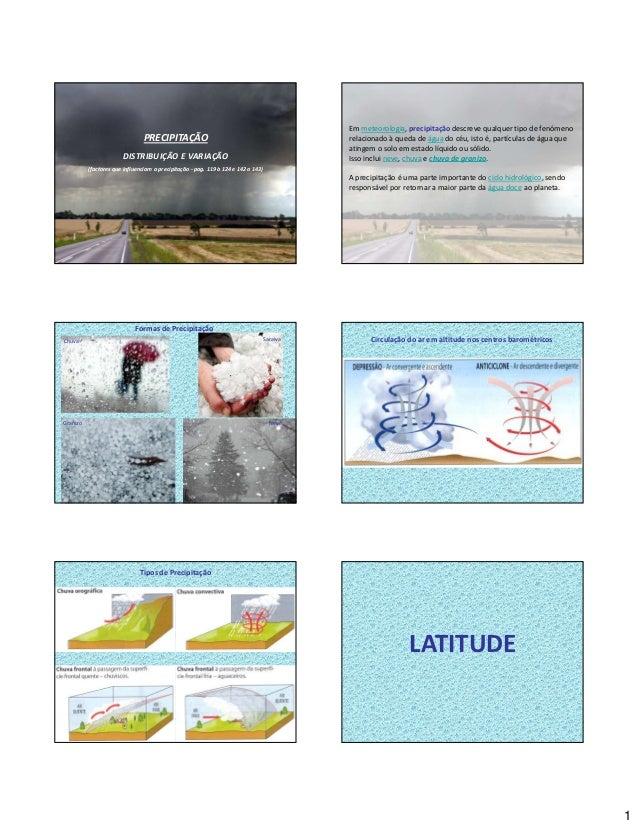 Em meteorologia, precipitação descreve qualquer tipo de fenómeno                                PRECIPITAÇÃO              ...