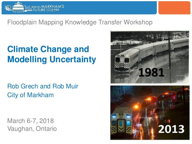 Woodbine Floodplain Mapping Knowledge Transfer Workshop Climate Change and Modelling Uncertainty Rob Grech and Rob Muir Ci...