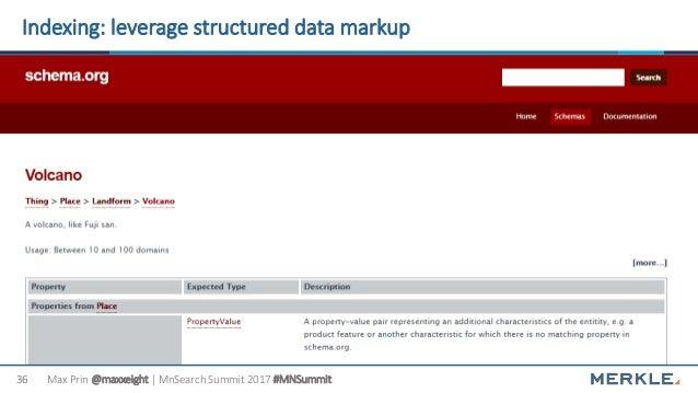 Max Prin @maxxeight | MnSearch Summit 2017 #MNSummit36 Indexing: leverage structured data markup