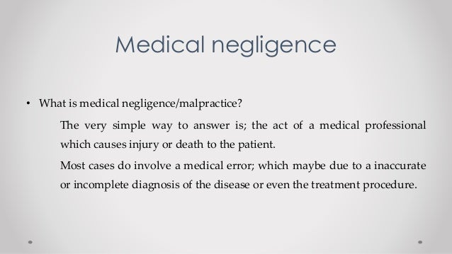 examples of negligence