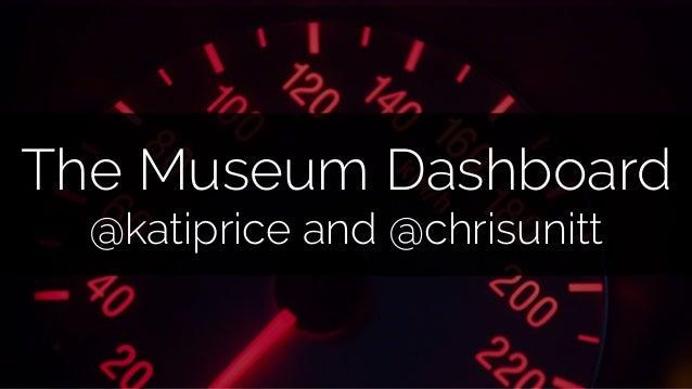 The Museum Dashboard @katiprice and @chrisunitt
