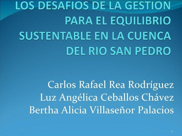 Carlos Rafael Rea Rodríguez Luz Angélica Ceballos Chávez Bertha Alicia Villaseñor Palacios