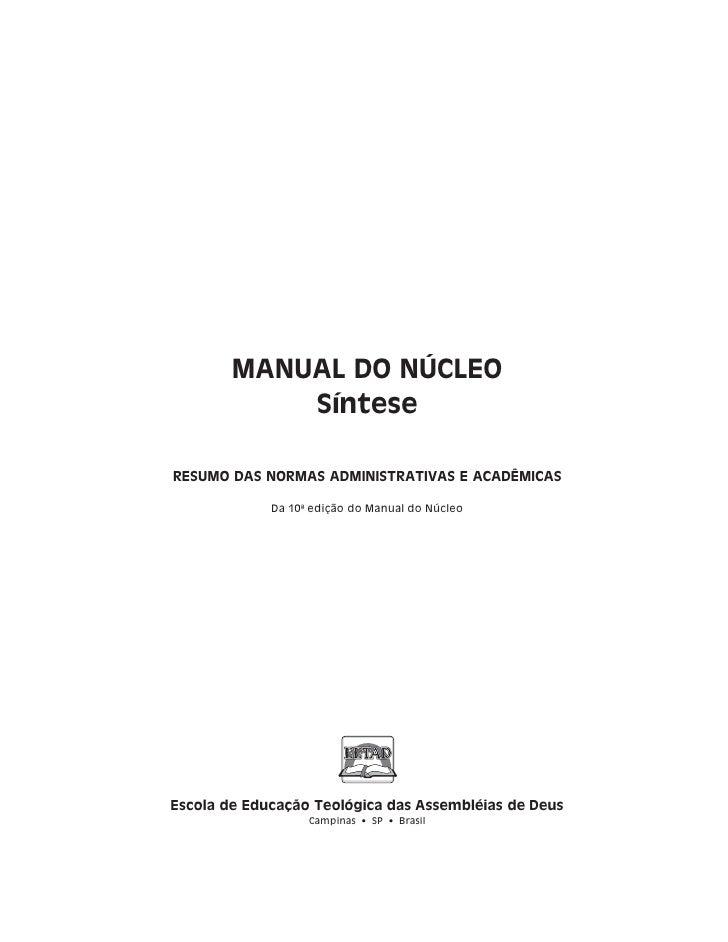 Manual do Núcleo - EETAD