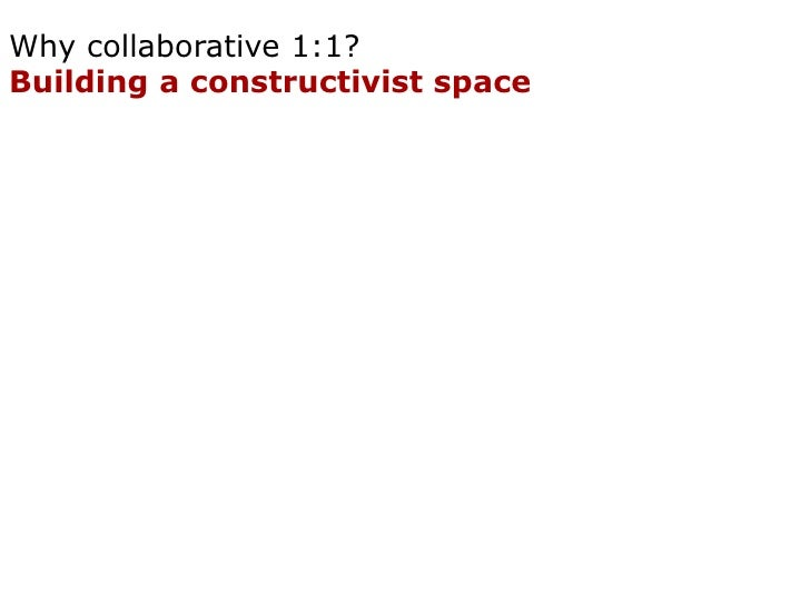 Why collaborative 1:1? Building a negotiation space