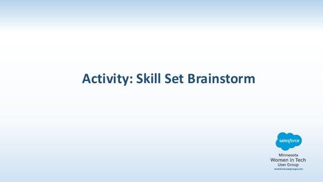 activity skill set brainstorm
