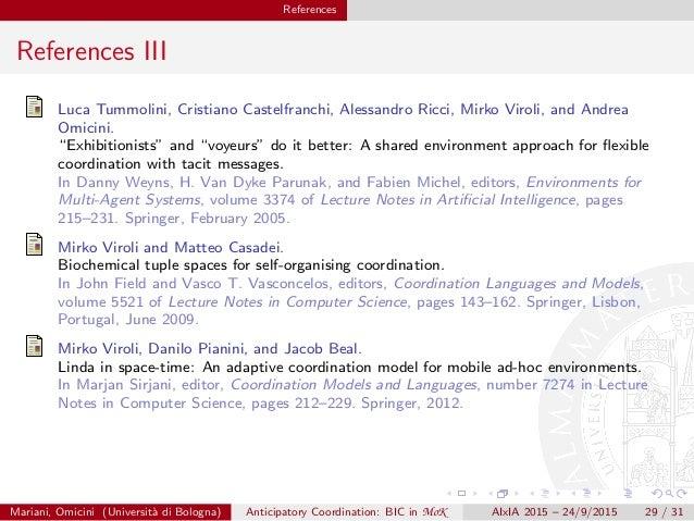 """References References III Luca Tummolini, Cristiano Castelfranchi, Alessandro Ricci, Mirko Viroli, and Andrea Omicini. """"Ex..."""