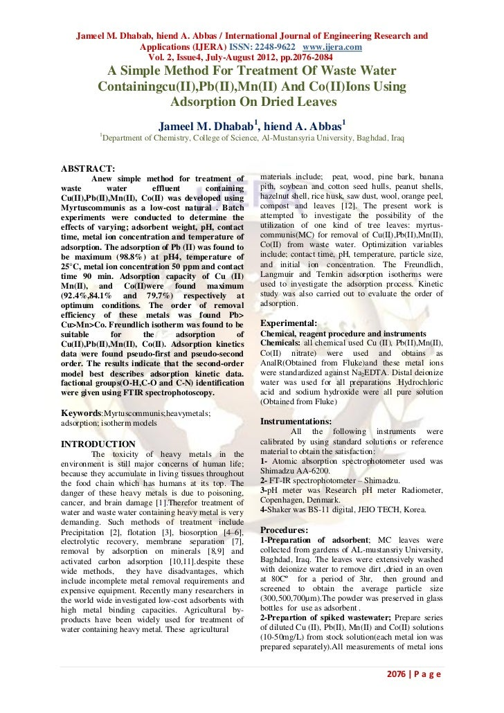 Jameel M. Dhabab, hiend A. Abbas / International Journal of Engineering Research and                  Applications (IJERA)...