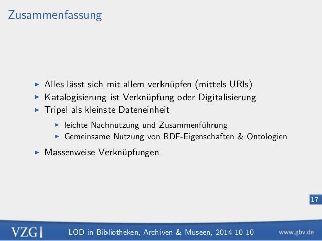 LOD in Bibliotheken, Archiven  Museen, 2014-10-10  11  Ontologien  I De