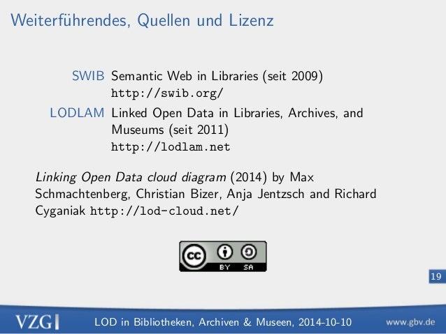 LOD in Bibliotheken, Archiven  Museen, 2014-10-10  12  Katalogisierung: Intellektuelle Erstellung von Daten  1. Zeichenket...