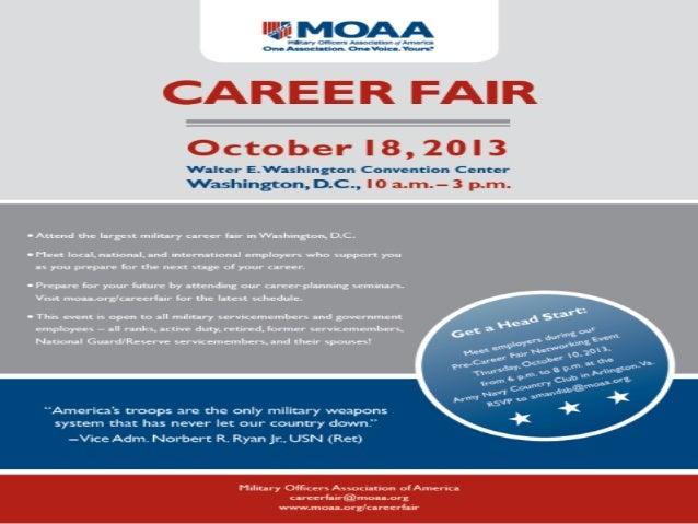 MOAA Career Fair, October 18, 2013