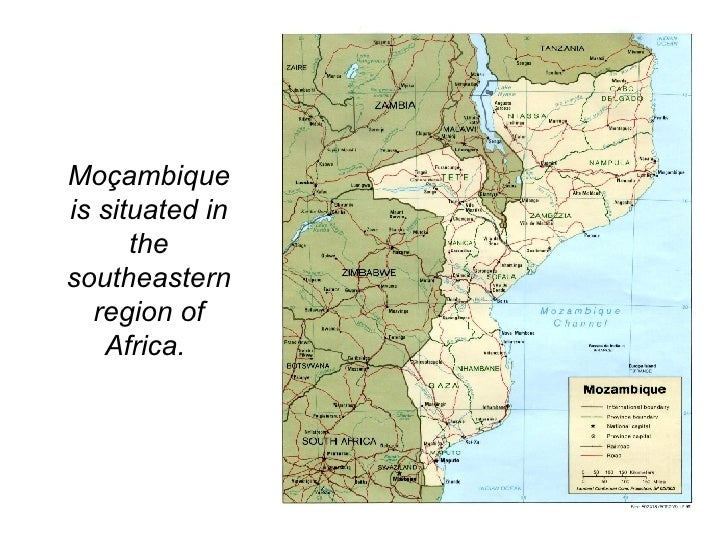 Moçambique is situated in the southeastern region of Africa.