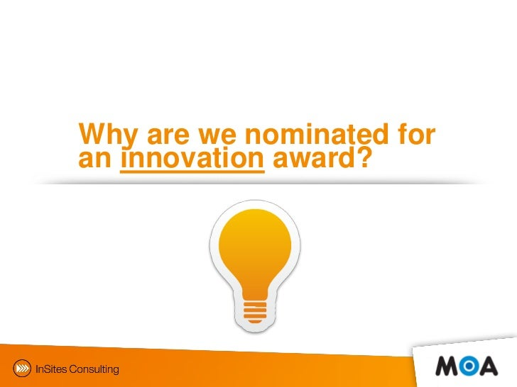 Moa innovation award gamification in mrocs by insites for Innovation consulting firms nyc