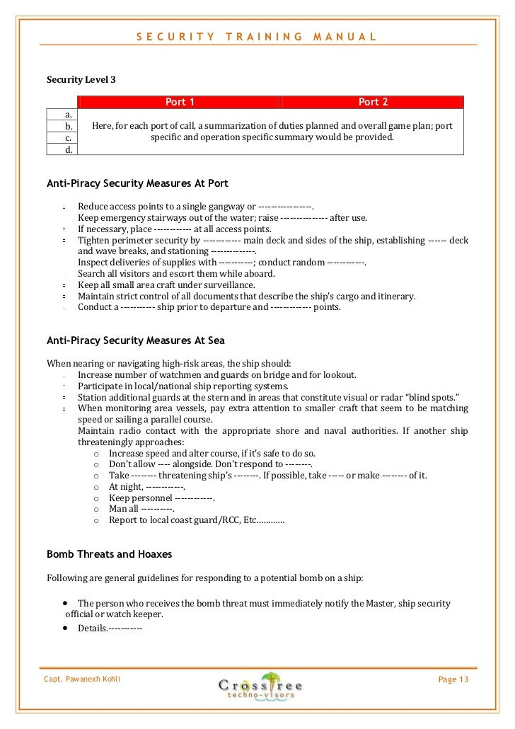security business plan sample