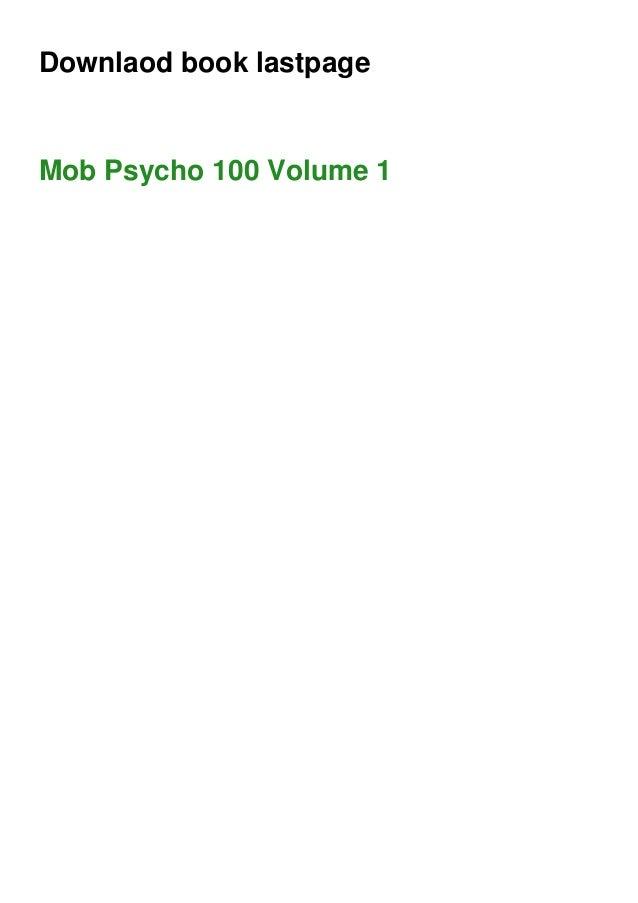 Downlaod book lastpage Mob Psycho 100 Volume 1