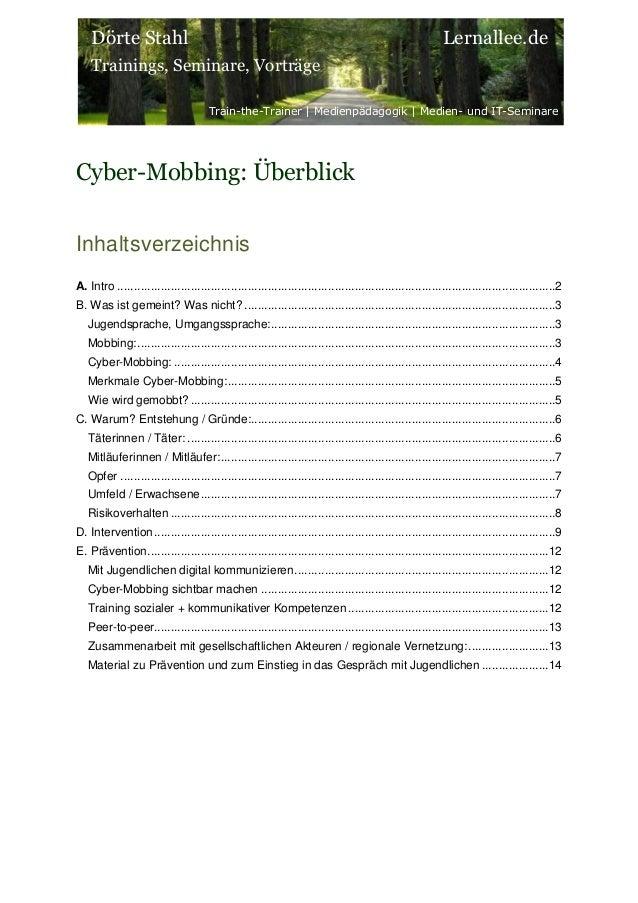 Dörte Stahl Trainings, Seminare, Vorträge Train-the-Trainer | Medienpädagogik | Medien- und IT-Seminare Lernallee.de Cyber...