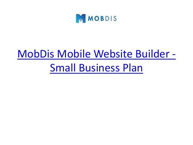 MobDis Mobile Website Builder -     Small Business Plan