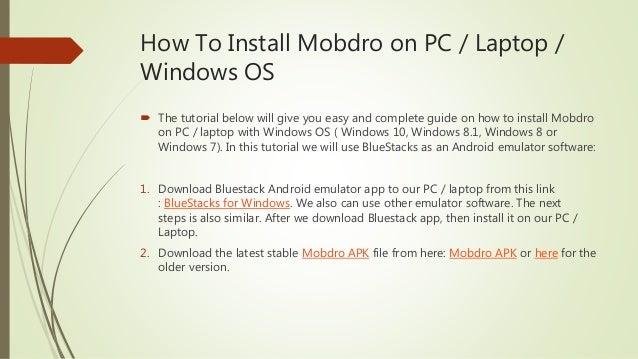 Mobdro for PC, Laptop, Windows OS - Install Mobdro App on