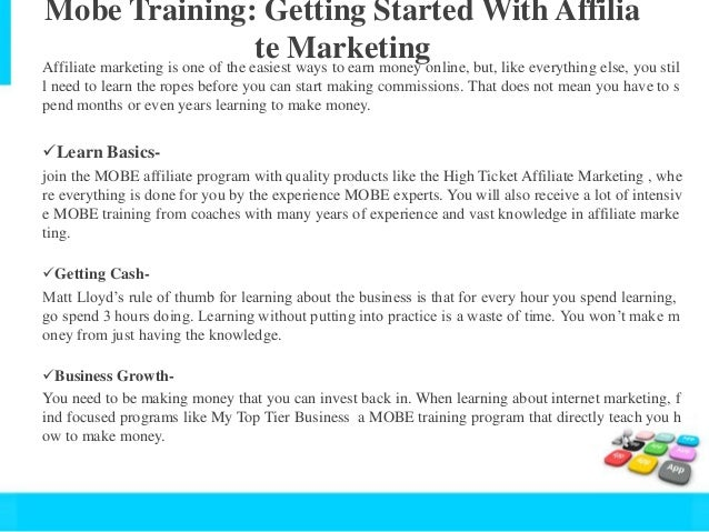 Mobe Matt Lloyd Tips Creating A Successful Affiliate Website