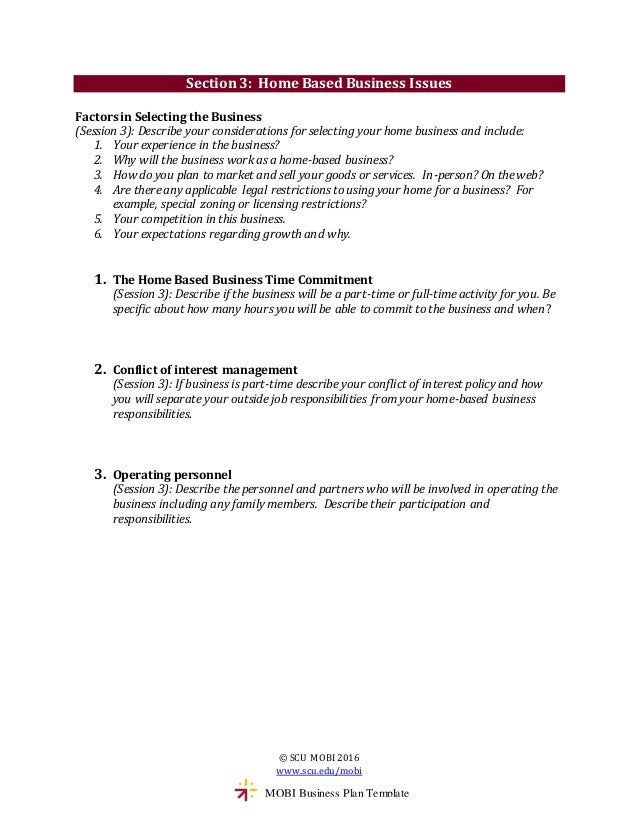Mobi business plan template 5 pronofoot35fo Images