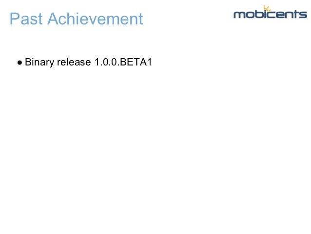 Past Achievement● Binary release 1.0.0.BETA1