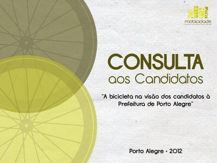 """mobicidade                               Associação pela Mobilidade Urbana em Bicicleta  CONSULTA  aos Candidatos""""A bicicl..."""