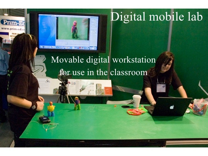 Digital mobile lab   Movable digital workstation  for use in the classroom