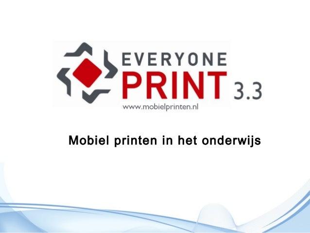 Mobiel printen in het onderwijs