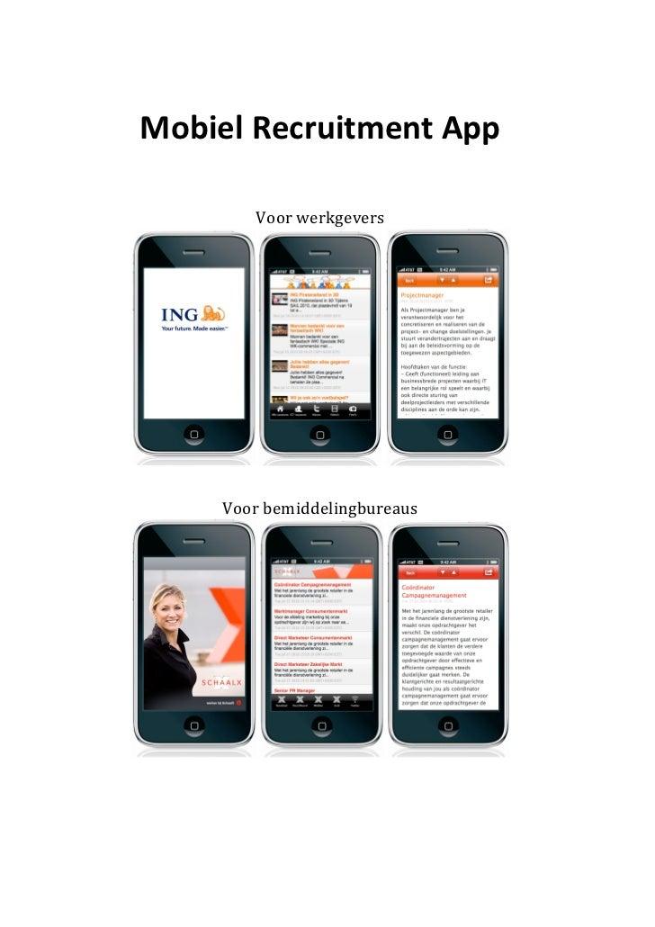 Mobiel Recruitment App                                           Voor werkgevers                    ...
