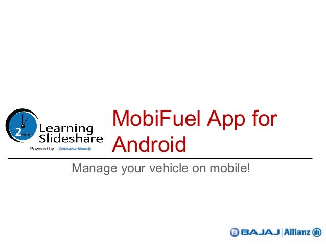 MobiFuel App forAndroidManage your vehicle on mobile!Powered by