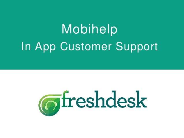 Mobihelp In App Customer Support