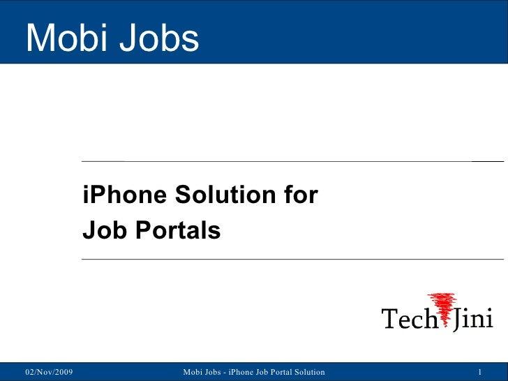 Mobi Jobs iPhone Solution for Job Portals