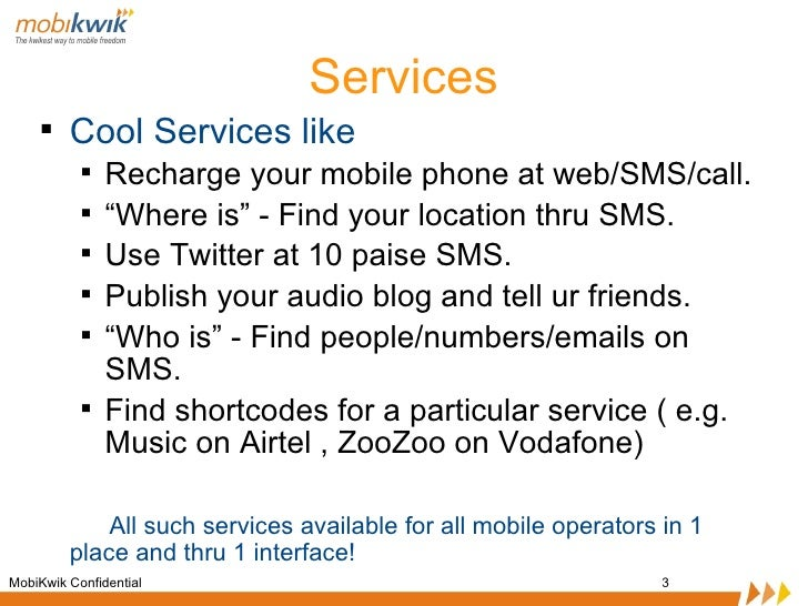 Mobikwik : web startup in Indian mobile services space is looking for INTERNs Slide 3